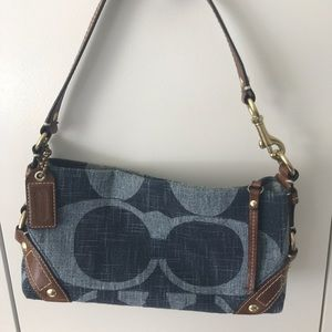 Coach Carly, small denim shoulder bag